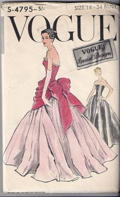 RARE Vogue s4795 Sumptuous evening or by VanessaLovesVintage, $220.00
