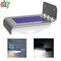 16 LED Solar Power Motion Sensor Garden Security Lamp Outdoor Waterproof Light #Unbranded