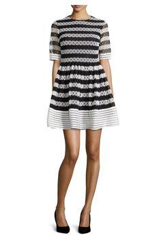 QUIZ Black Contrast Midi Dress Vestito da Sera Donna
