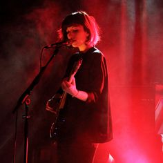 """daughterfans: """" Elena Tonra of Daughter on stage at Sala Apolo in Barcelona, November 28 © Pablo Luna Chao """" Elena Tonra, Daughter Band, Hard Music, Lara Pulver, Guitar Girl, Light Music, Skater Girls, Red Aesthetic, Pretty Pictures"""