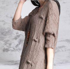 платье рукав вязать льна свободно тонкие искусство ван национального ветра женской восстановление древних путей является подол халата