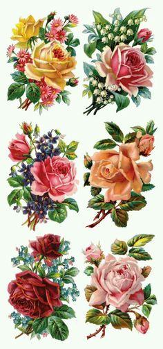 30 Ideas flower tattoo vintage decoupage for 2019 Floral Vintage, Vintage Diy, Vintage Labels, Vintage Cards, Vintage Paper, Vintage Flowers, Vintage Images, Vintage Prints, Vintage Blume Tattoo