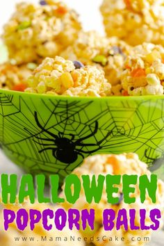 Popcorn balls are soft and chewy and stuffed with your favorite candies. These easy popcorn balls aren't just for Halloween, they're perfect for any season by swapping the candies for season-related colors. #popcornballs #popcorn #halloween #treats #easytreats #candies #trickortreat #instantpot Halloween Food Crafts, Halloween Popcorn, Halloween Snacks, Halloween 2020, Halloween Diy, Easy Delicious Recipes, Yummy Food, Easy Recipes, How To Make Popcorn