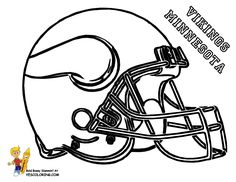free football coloring page of vikings see n match team colors for best crayon
