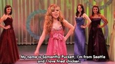 iCarly // Sam is beauty, Sam is grace, Sam will punch you in the face! Funny Chicken Memes, Funny Memes, Hilarious, Sam E Cat, Icarly And Victorious, Lumpy Space Princess, Tv Show Quotes, Girl Meets World, Celebrity Travel