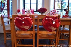Children's Valentine's Day Table Setting