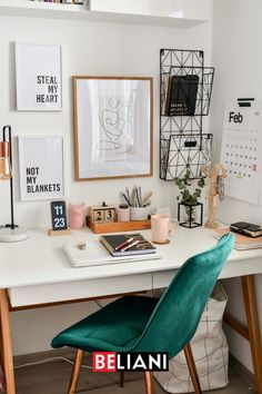 Cozy Home Office, Home Office Space, Home Office Decor, Home Decor, Office Ideas, Study Room Decor, Room Ideas Bedroom, Bedroom Decor, Home Room Design