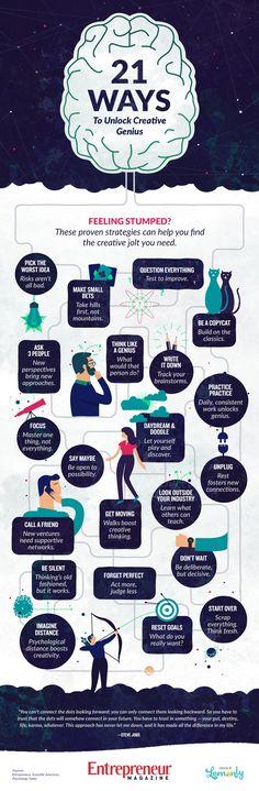 21 Ways to Unlock Your Creative Genius [Infographic]