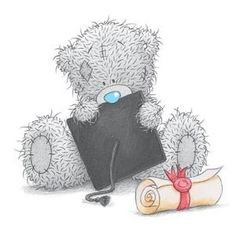 Tatty Teddy, Blue Nose Friends, Me to You, Graduation 1 Teddy Images, Teddy Photos, Teddy Bear Pictures, Cute Images, Cute Pictures, Tatty Teddy, Blue Nose Friends, Photo Ours, Watercolor Card