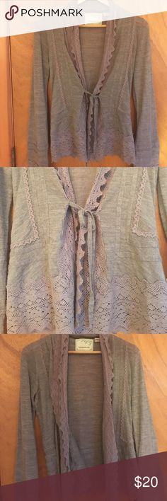 Brown cardigan Never Worn, beautifully detailed Sparrow Sweaters Cardigans