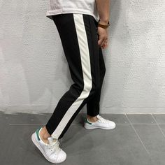 👉🚨 Stop paying high retail prices, guys! With our NEW business model, we work with the same elite manufacturing partners as the other pricey brands.  Jogger Pants Side Stripes - Black Regular price $54.99 USD Black Jogger Pants, Mens Sweatpants, Denim Shirt, Jeans, Streetwear Fashion, Pants For Women, Mens Fashion, Street Fashion, Street Wear