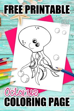 Are you and your preschool students learning about the letter O in the alphabet? Use this free printable cartoon octopus coloring page to help! Start by drawing the letter O next to this cute octopus and sound out the letter. You can even teach your kids how octopus are invertebrate by outlining the cartoon character! Click and print your octopus coloring page today! #octopuscoloring #oceananimalcoloring #SimpleMomProject Ocean Animal Crafts, Octopus Crafts, Cute Octopus, Ocean Crafts, Octopus Coloring Page, Mandala Coloring Pages, Animal Coloring Pages, Coloring Books, Sea Creatures Crafts