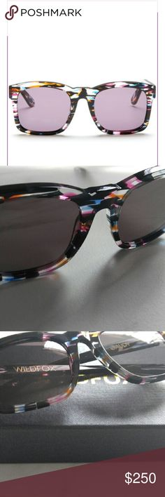 New Wildfox Gaudy Rectangle Sunglasses Brand New Wildfox Gaudy Rectangle Sunglasses  Color: FIREWORKS Wildfox Accessories Sunglasses