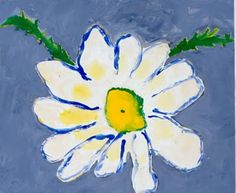 Flowers Daisies On Pinterest Acrylic Paintings Design