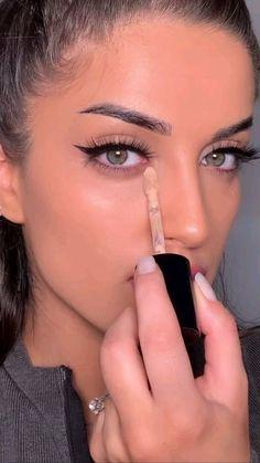 Face Makeup Tips, Makeup Eye Looks, Beauty Makeup Tips, Eyebrow Makeup, Skin Makeup, Makeup Hacks, Contour Makeup Tutorials, How To Makeup, Face Contouring Tutorial