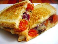 Bada Bing Betty's Tuscan Portobello Melt (Grilled Cheese)