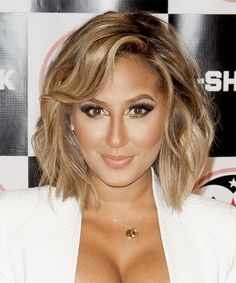 Adrienne Bailon Hairstyle - Casual Medium Straight. Try on this hairstyle an view styling steps! http://www.thehairstyler.com/hairstyles/casual/medium/straight/adrienne-bailon