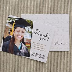 Good Personalized Graduation Thank You Cards   Refined Graduate   12963
