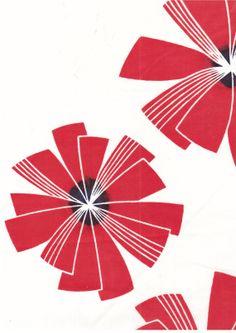 Fabric  print cotton orange spinning Chrysantheums on by cefkeenan, $12.00