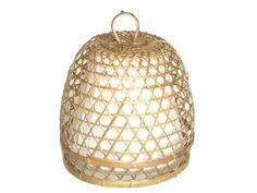 hanglamp bamboe naturel ecru