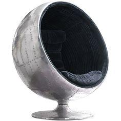 Orbit Spitfire Chair found on Polyvore