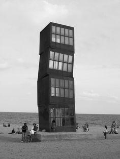 barcelona Willis Tower, Barcelona, Black And White, Building, Travel, Monochrome, Black White, Voyage, Blanco Y Negro