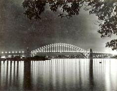 Throwback to the flirty fifites for the first lights installed on the Sydney Harbour Bridge!