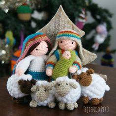 Crochet: ovejitas amigurumi! Acompañan a María, José y a Jesus en nuestro Nacimiento en esta Navidad! Vídeo tutorial del paso a paso!