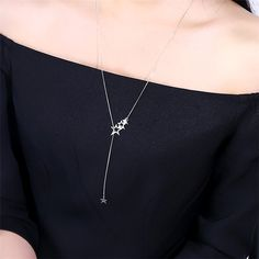 dcee4b85504 Hollow Out Star Long Necklace Women Bijoux Simple Sweater Necklaces &  Pendants New Fashion Jewelry