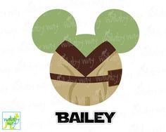 Yoda Mickey Ears Disney Star Wars Printable Iron On Transfer or Use as Clip Art - DIY Disney Shirt Mickey Head Star Wars Weekend Marathon by TheWallabyWay on Etsy