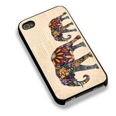 Elephant Ornate On Vintage News Paper For iPhone 6 Case
