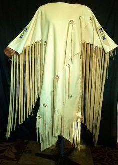 Buckskin Dress Native American Style by SpottedEagleArt on Etsy
