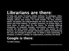 Librarians vs Google