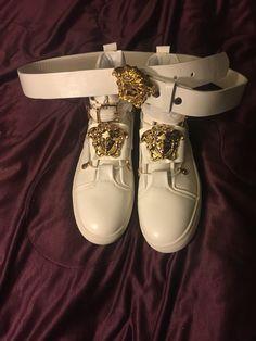 Versace sneakers/ belt