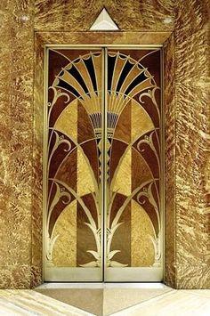 Interior door Chrysler Building NYC
