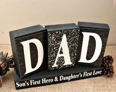 Gifts for Him, Dad Son's First Hero Daugther's First Love, Dad Christmas Gift, Daddy Birthday Present, Gift for Husband, Gift for Him
