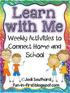 35 Weekly Activities to Connect Home and School {Amazing for keeping parents involved in their child's learning! Childhood Education, Kids Education, Learning Activities, Kids Learning, Family Activities, Teaching Ideas, School Fun, Back To School, School Week