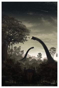 Jurassic Park Art Print JC Richard poster