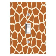 Giraffe Print Light Switch Skin Lightswitch Cover Decal Safari Design Zoo Girls Room Home Decor Wall Accessories LS15SS
