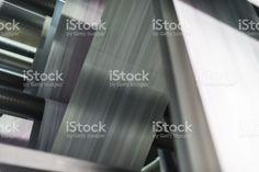 Printing newspaper on web press royalty-free stock photo Press Photo, Wall Ideas, Bathroom Wall, Newspaper, Royalty Free Stock Photos, Printing, Mural Ideas, Journaling File System