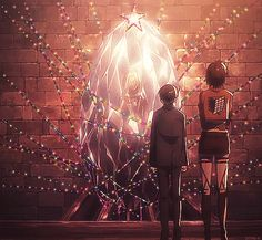 """dithe-r: SNK GIF Christmas Lights """" how am I even supposed to explain this """""""