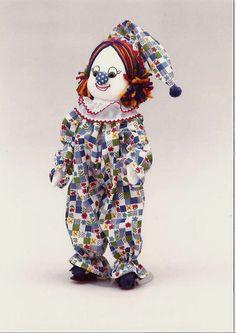 "Clowns Series  ""CHUCKLES"" the Crazy Clown 16 inch Limited Edition Handmade Original Cloth Doll"