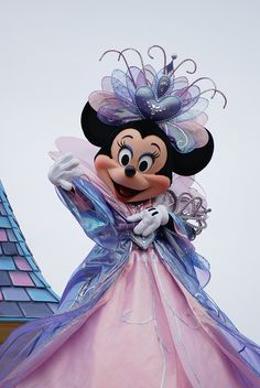 Beautiful Minnie in formal blue gown