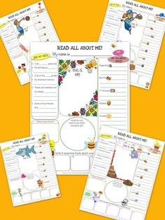 30 Unique themed All About Me Resource Worksheets!  Every student in your class can now choose a unique theme to express themselves! Only $6 for 30 worksheets.  Repin me please :)