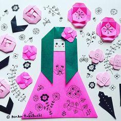 オードリー苺のお菓子美味しかったなー。 Strawberry sweets were delicious #origami  #paperflower  #papercraft  #girly #illustration  #cute  #kawaii #delicious  #折り紙 #おりがみ #ペーパークラフト #お花 #イラスト #苺菓子 #たかはしなな #audrey  #パッケージ可愛い