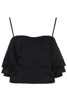 Topshop crop - only kind of ruffle I've ever found remotely appealing.