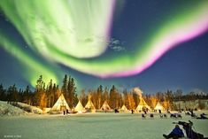 Dazzling Displays of Aurora Borealis Dance Across the Night Sky...