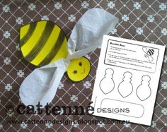 Free Bumble Bee craft pattern