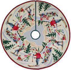 H 303 Alpine Xmas 5 Round Tree Skirt
