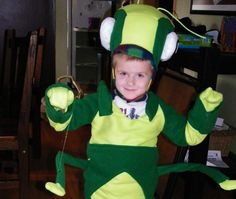 Look at this detailed handmade great Grasshopper costume. A great idea for this Halloween.